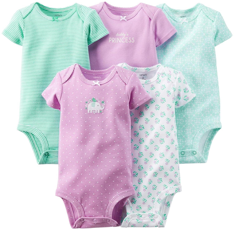 Amazon Com Carter S Baby Girls Bodysuits Baby Clothing