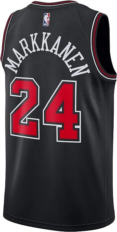 Amazon.com: Lauri Markkanen Chicago Bulls #24 Official Youth 8-20 ...
