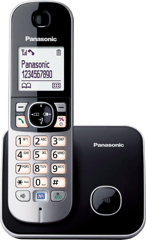 Panasonic KX-TG6811SPB - Teléfono Fijo Inalámbrico (Pantalla LCD de 1.8
