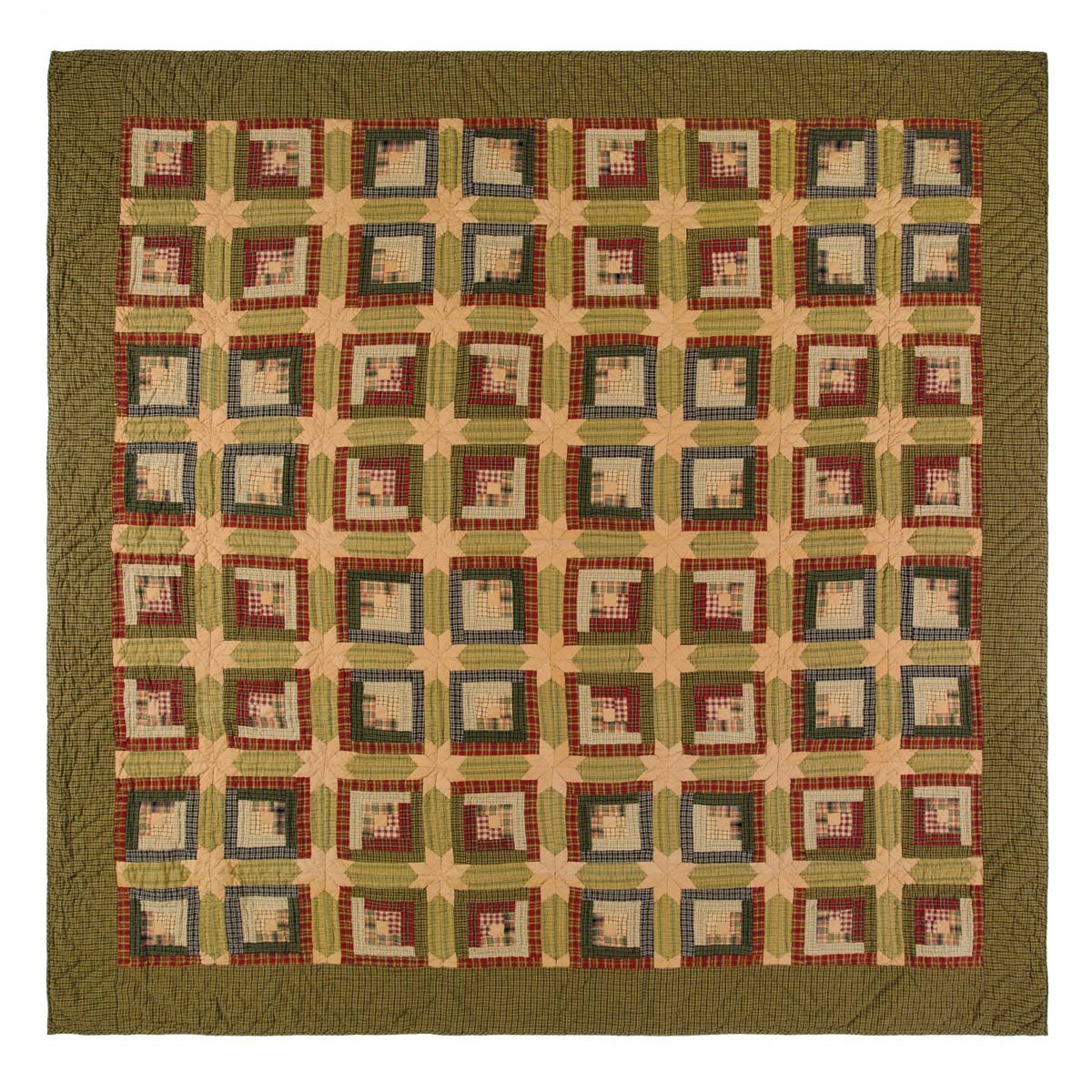 VHC Brands Tea Cabin 10752 Quilt, Twin