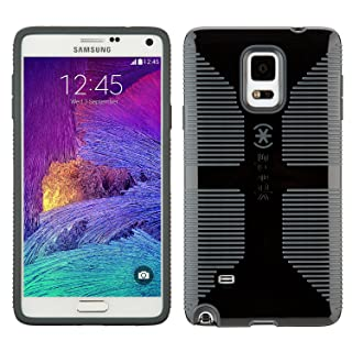 Speck Products CandyShell Grip Case for Samsung Galaxy Note 4 - Retail Packaging - Black/Slate Grey