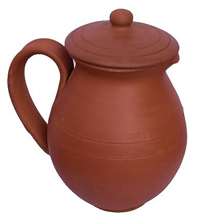 Chennaipots Handmade Clay Water Jug (1 L, Brown)