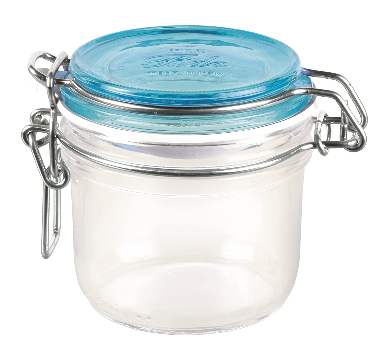 Amazon.com: Fido Round Top Jar, 4-1/4-Ounce, Orange: Kitchen & Dining