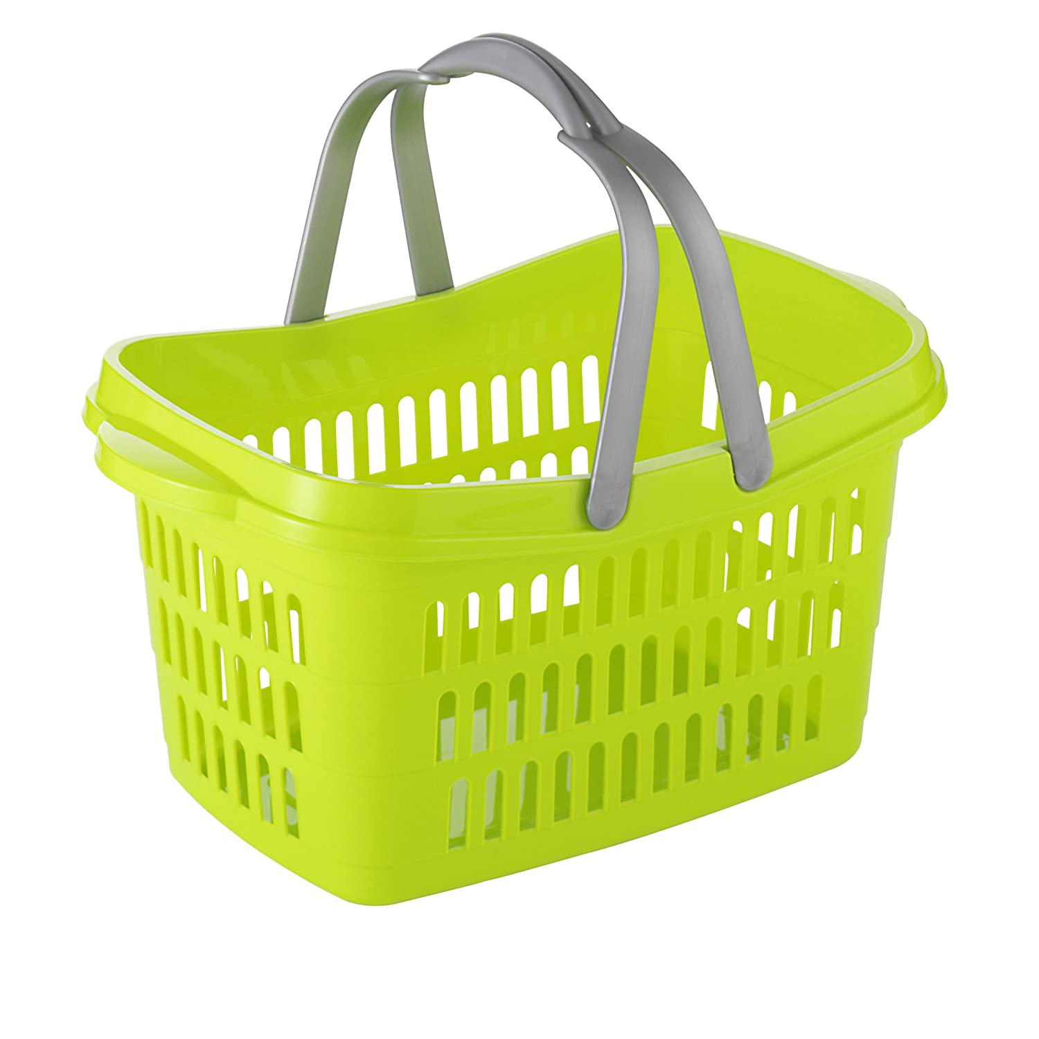 Axentia 2012 Edition 291597 Shopping Basket 48 x 29 x 24 cm Assorted Purple/Light Green