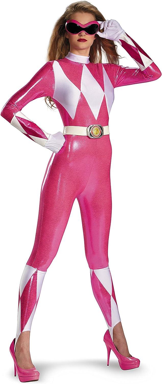 Disfraz de Power Rangers rosa sexy para mujer S: Amazon.es ...