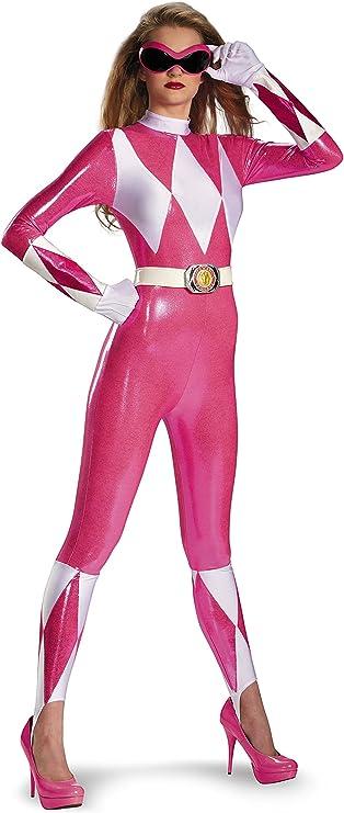 Disguise Sabans Mighty Morphin Power Rangers Pink Ranger Sassy Bodysuit Costume