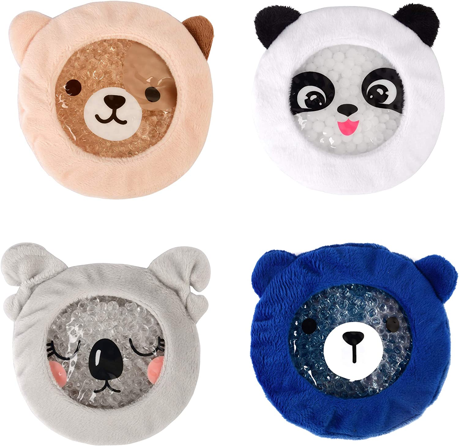 Kid's Boo Boo Ice Packs w/Ultra Soft and Fun Sleeves- Hot and Cold Therapy - Children's Pain Relief Cold Compress for Injuries (Panda)