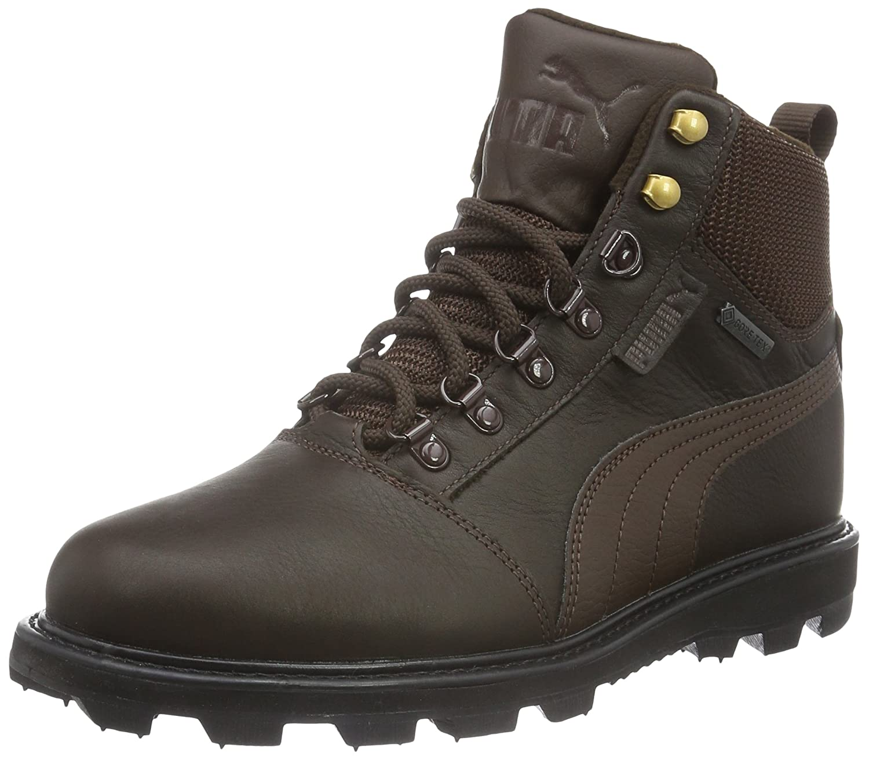 Puma Unisex-Erwachsene Tatau Fur Boot GTX Schneestiefel, Schwarz  43 EU|Braun (Chocolate Brown-chocolate Brown 01)