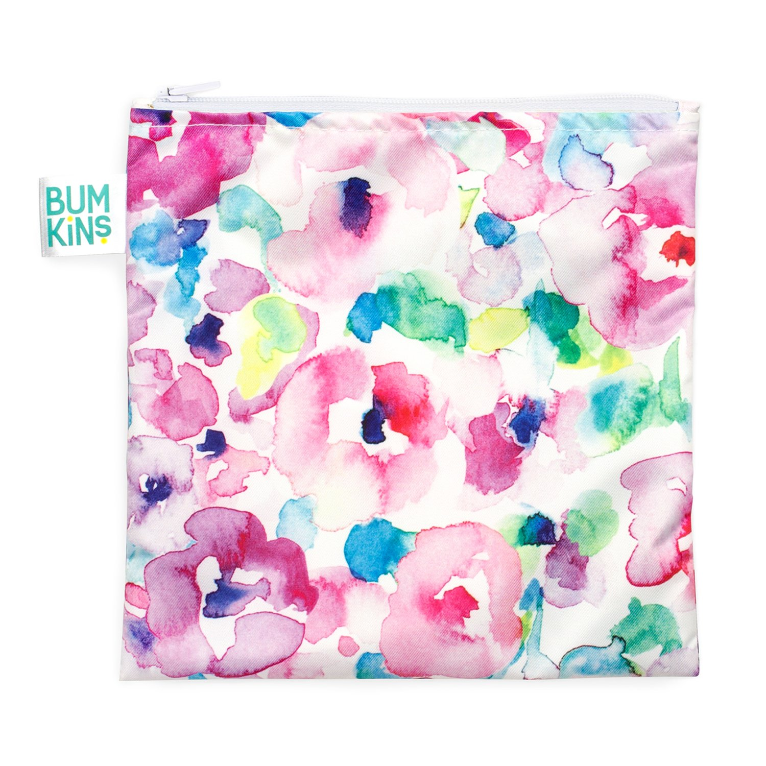 Bumkins Reusable Snack Bag Large, Watercolor SBL-32