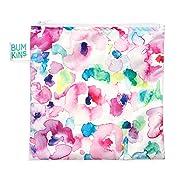 Bumkins Reusable Snack Bag, Watercolor, Large