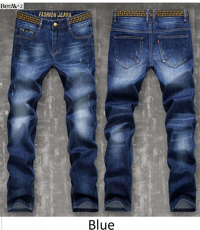 Toping Fine Men Jeans Pants Casual Fashion Classical Denim Jeans Men Slim Male Jeans 6128 Blue30