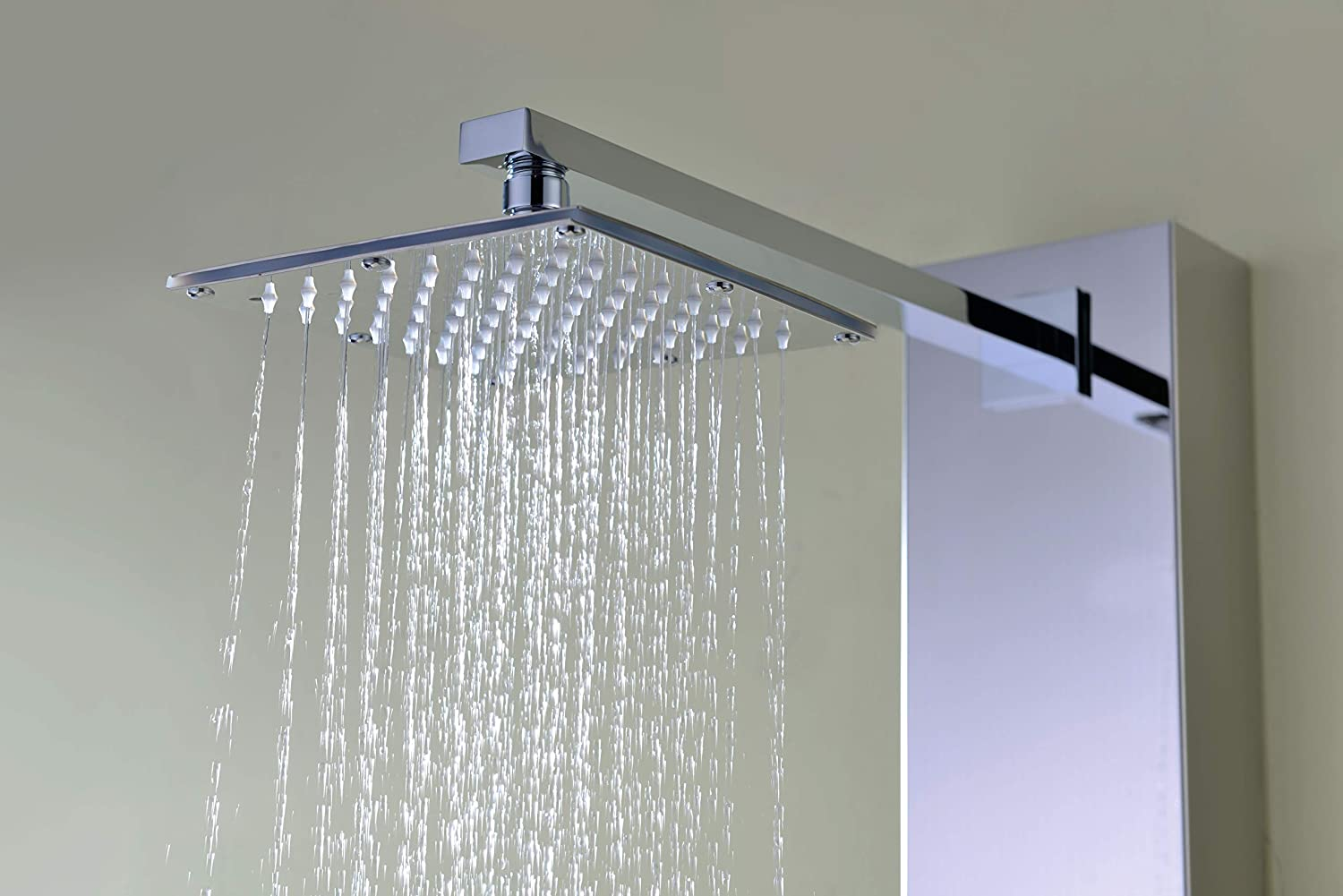 ANZZI Lann Body Massage 3 Jetted Shower Panel System | Waterfall Shower Head Multi Function Shower Tower | Polished Chrome Stainless Steel Shower Panels with Jet and Rainfall and Handheld | SP-AZ015 61WWTR9ujaL