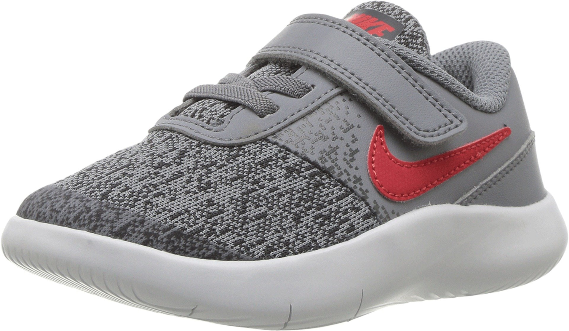 Nike Boy's Flex Contact (TDV) Running Shoes (4 Toddler M, Cool Grey/University Red-Anthracite) by Nike