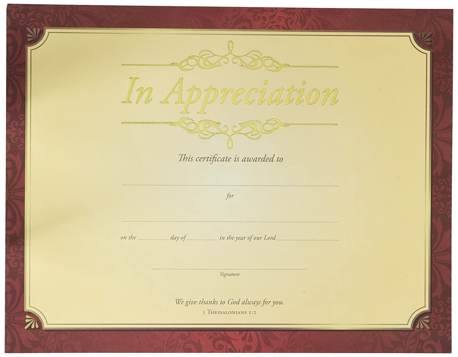 Amazon certificate appreciation in apprecication gold amazon certificate appreciation in apprecication gold foil embossed premium stock pack of 6 office products yadclub Choice Image