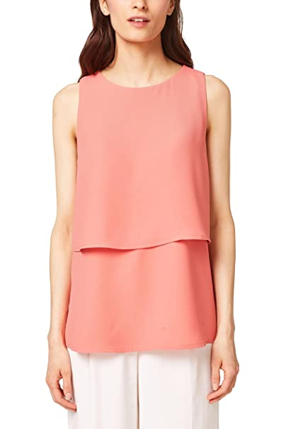 ESPRIT Collection 068eo1f006, Blusa para Mujer, Rojo (Coral 645), 36 (