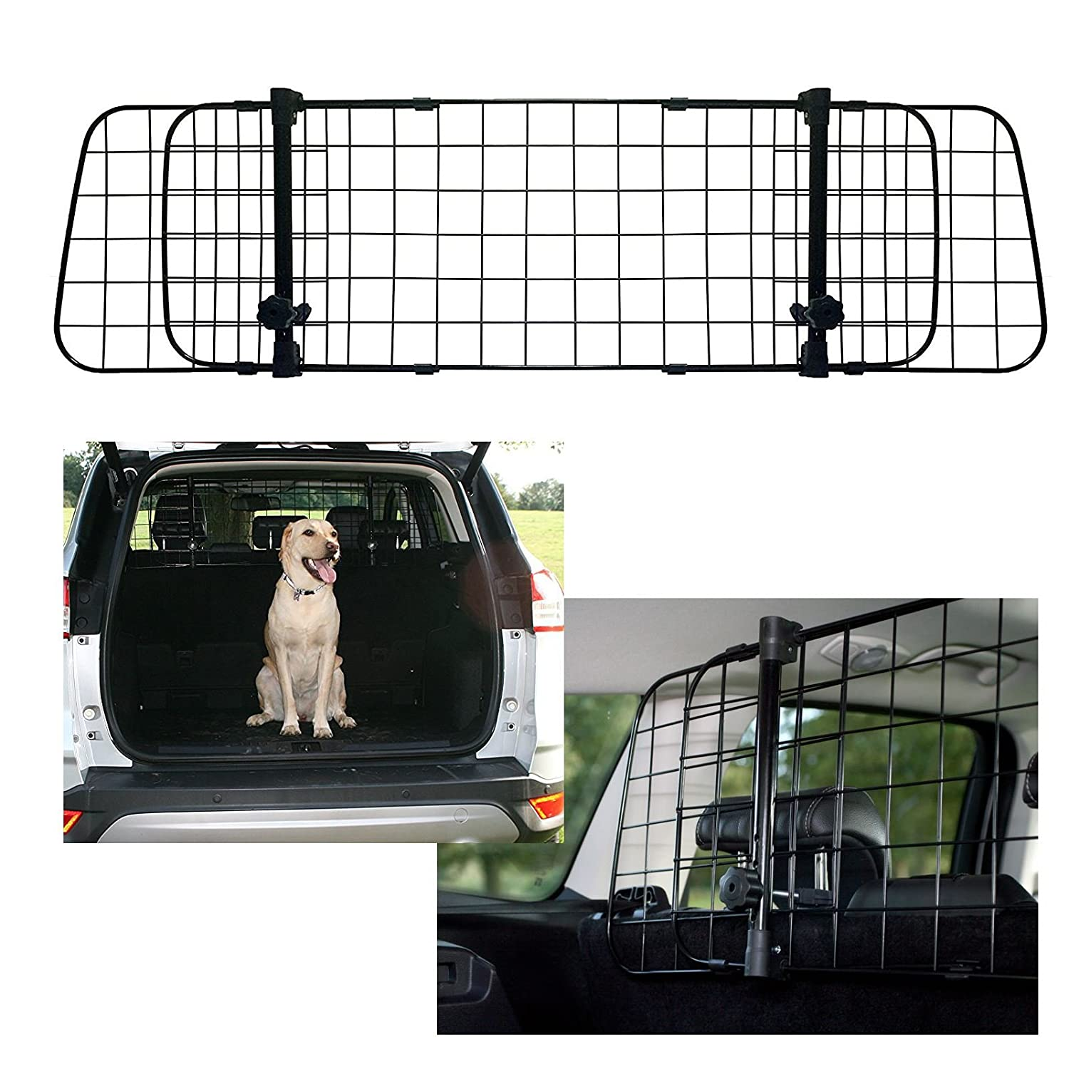 UKB4C Ssangyong Rexton W 2012-2017 Car Headrest Black Mesh Dog Guard