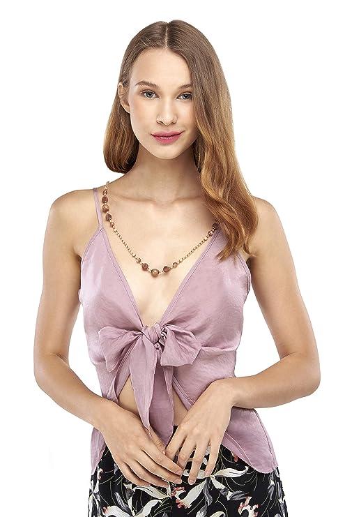 Our Heritage Camisa de Mujer con Corbata Frontal Cami - Rosa ...
