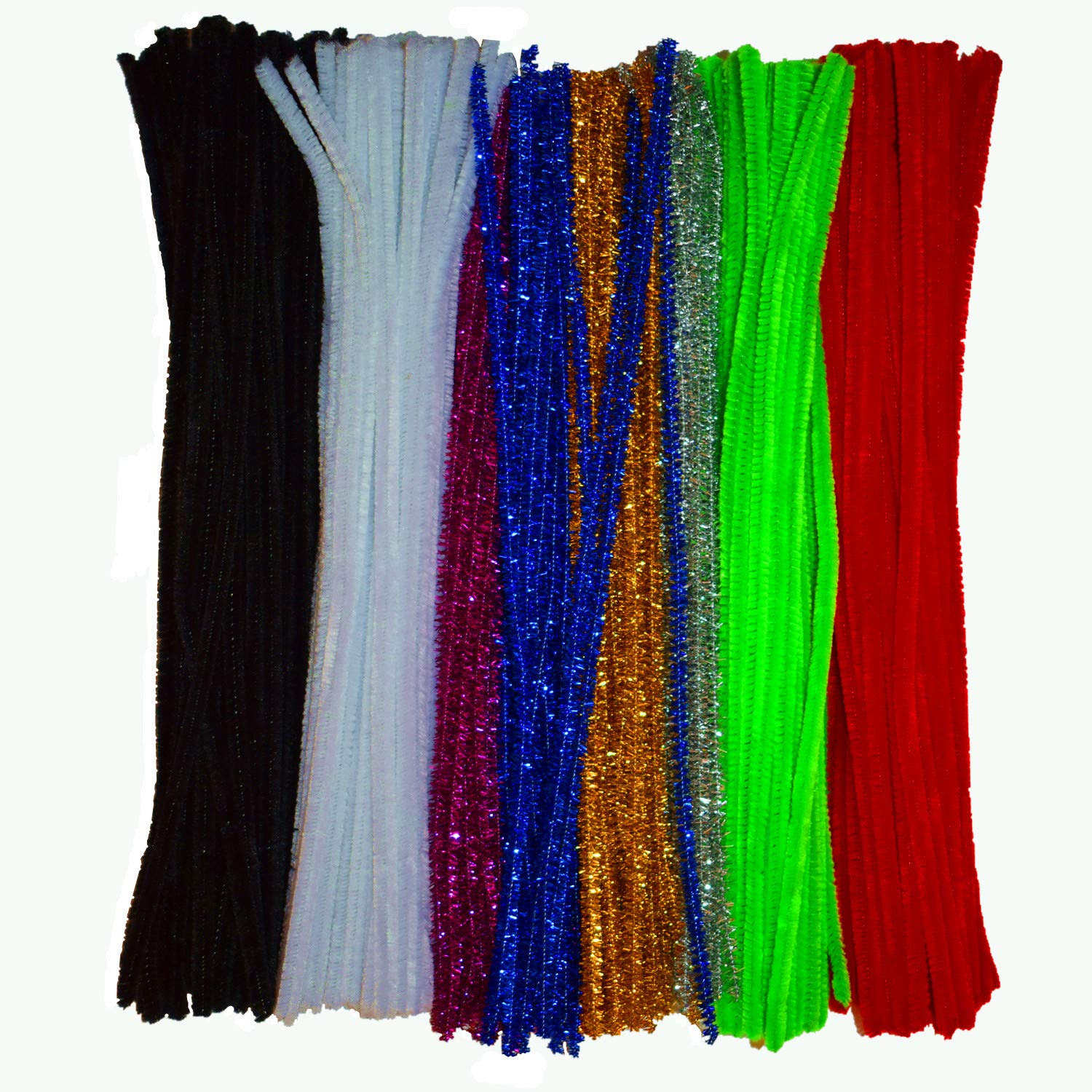 Chenille Stems Colors Pipe Cleaners 300 Piece for DIY Art Creative Craft(6 mm x 12 Inch)