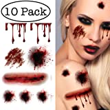 Halloween Temporary Tattoos 10 Sheets 80pcs+ Zombie Wounds Scars Spiders