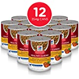 Hill's Science Diet Adult 7+ Healthy Cuisine Roasted Chicken, Carrots & Spinach Stew Canned Dog Food, 354g, 12 Pack