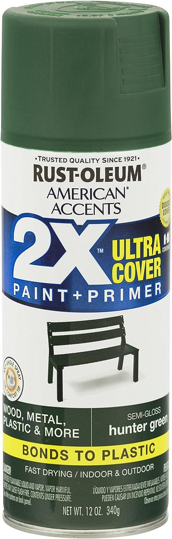 Rust-Oleum 327952-6PK American Accents Ultra Cover 2X Semi-Gloss, 6 Pack, Satin Fire Orange