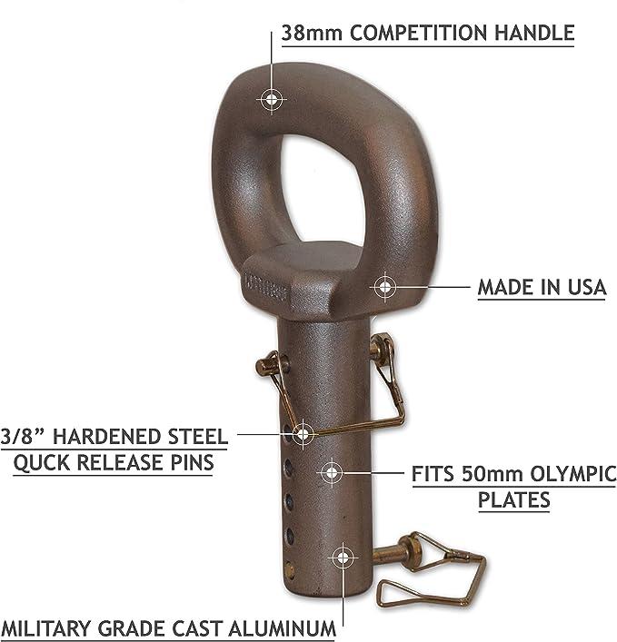 Vintage Pair of adjustable Kettlebell Handles Bars and Collars Standard Size