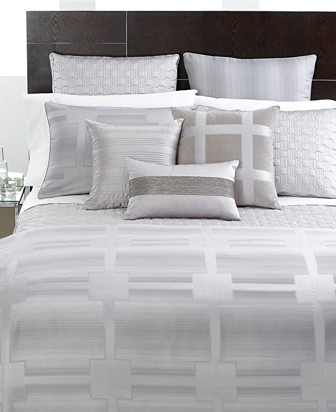 Silver Hotel Collection Interlattice Matelasse Standard Sham