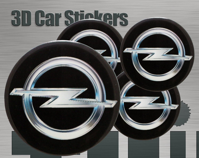 Adhesivos 3D 4 pzs. Imitación Todo tamaño Tapa central Tapas de rueda (50 mm)