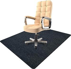 Chair Mat, Chair Rolling Mat, Office Chair Mat for Hardwood Computer Desk Floor Mat Desk Chair Protector, 35 x 47 inches 0.16 Thick Professional Protector Mat (Dark Grey)
