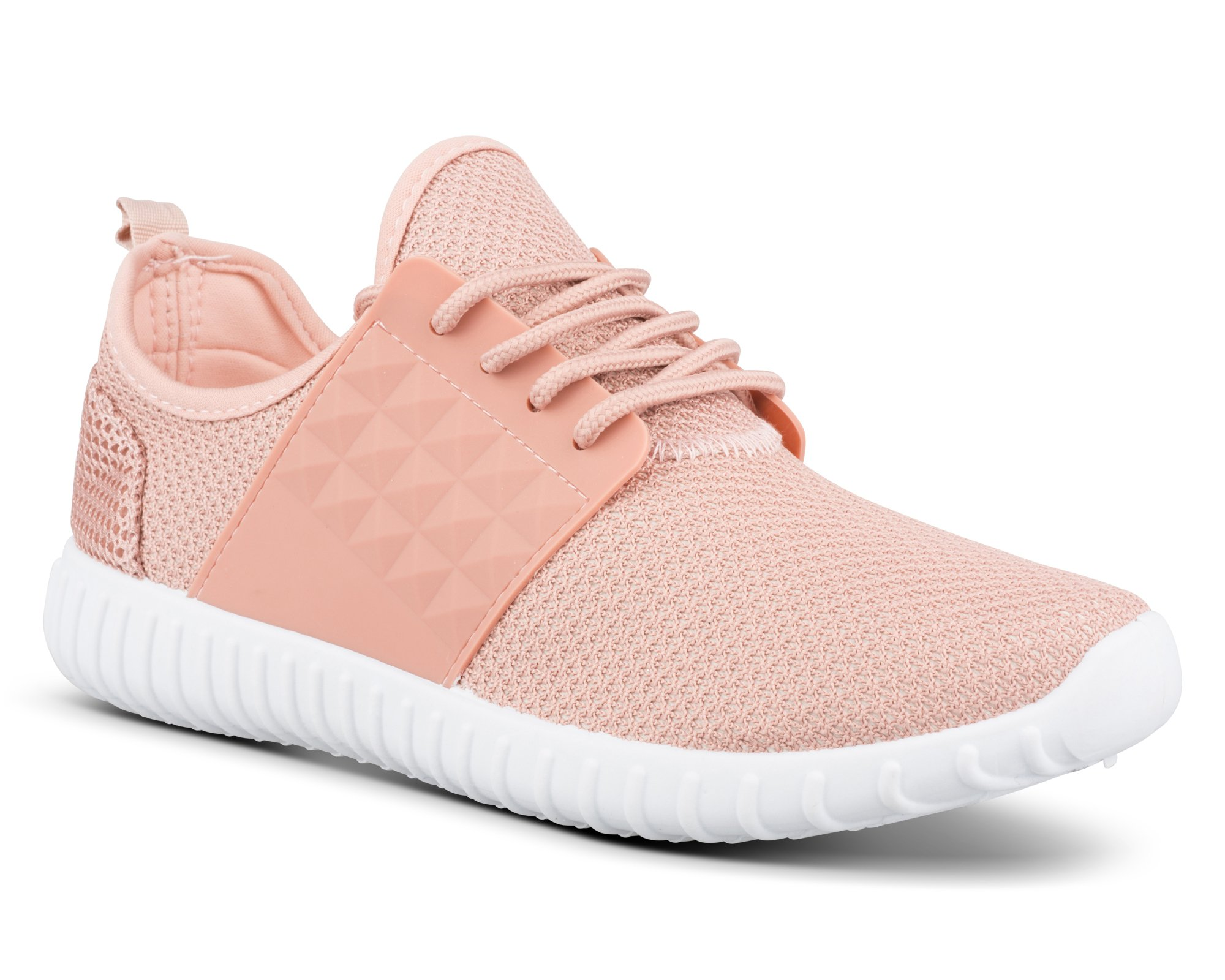 Twisted Womens Electra Lightweight Athletic Fashion Sneaker - ELECTRA02 Blush, Size 8.5 by Twisted