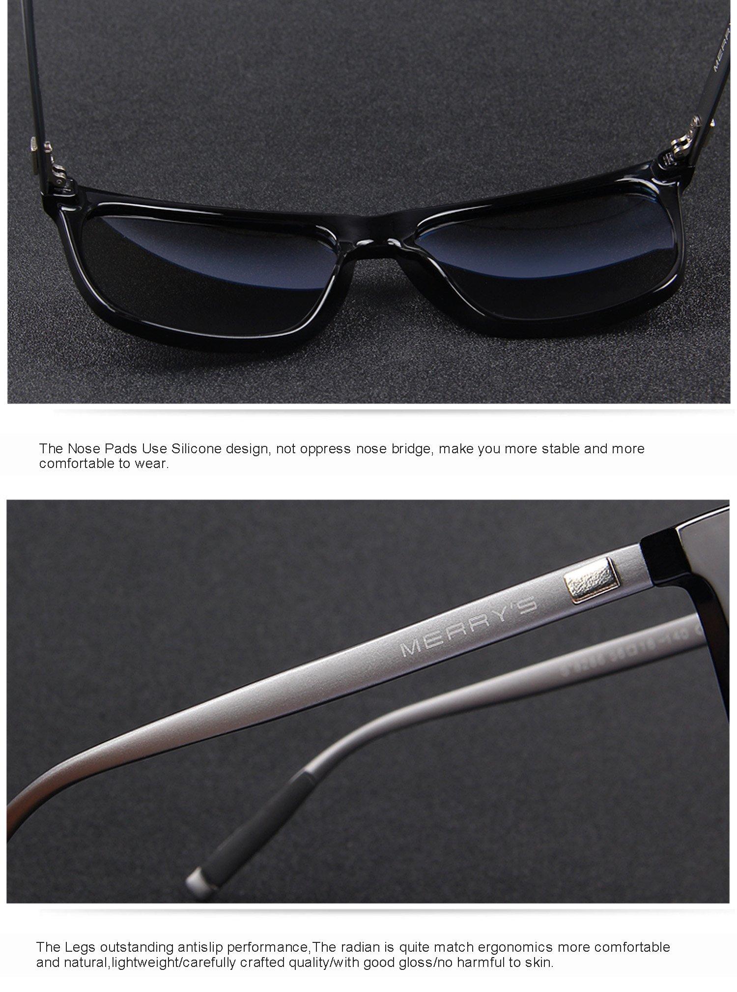 MERRY'S Unisex Polarized Aluminum Sunglasses Vintage Sun Glasses For Men/Women S8286 (Blue, 56) by MERRY'S (Image #8)