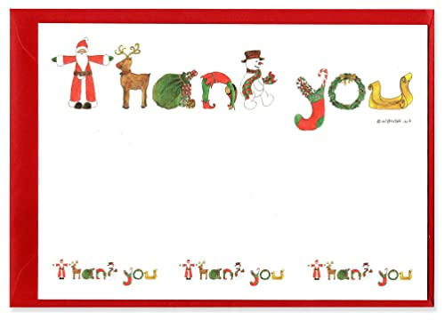 Santa christmas thank you notes pack of 10 amazon toys games santa christmas thank you notes pack of 10 m4hsunfo