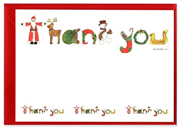 Santa Christmas Thank You Notes   Pack of 10: Amazon.co.uk: Toys