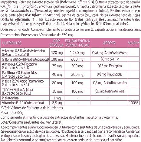 Valeriana (complex) 2740 mg. (ext. seco) 60 capsulas: Amazon.es ...