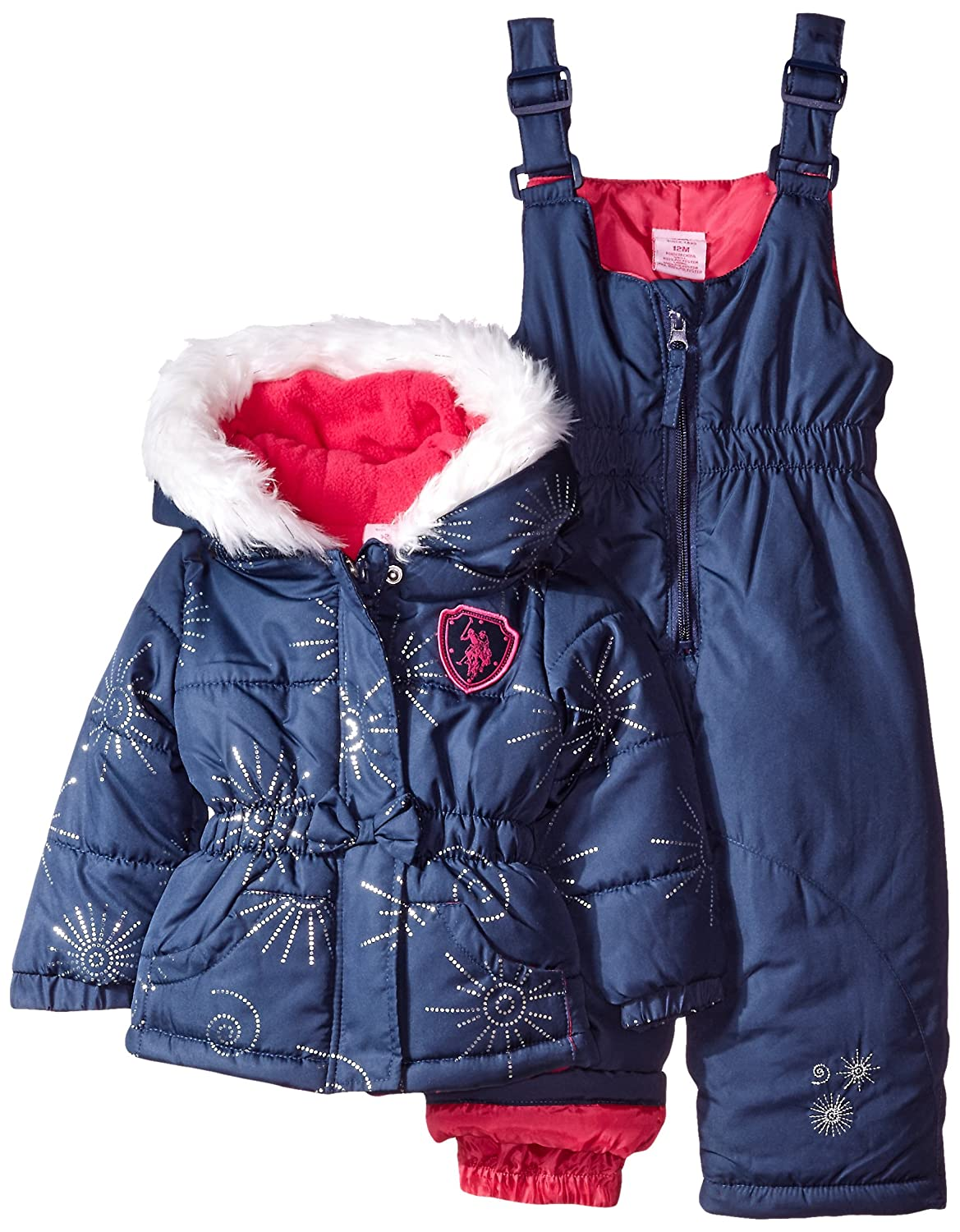 a2a79a8aaa9b Amazon.com  U.S. Polo Assn. Baby Girls  Snow Suit (More Styles ...