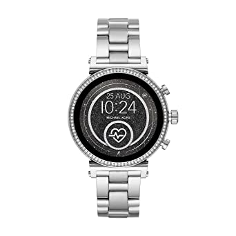 e80b8726c3e2 Michael Kors Access Women s Sofie Heart Rate  Touch-Screen Smartwatch with  Stainless-Steel