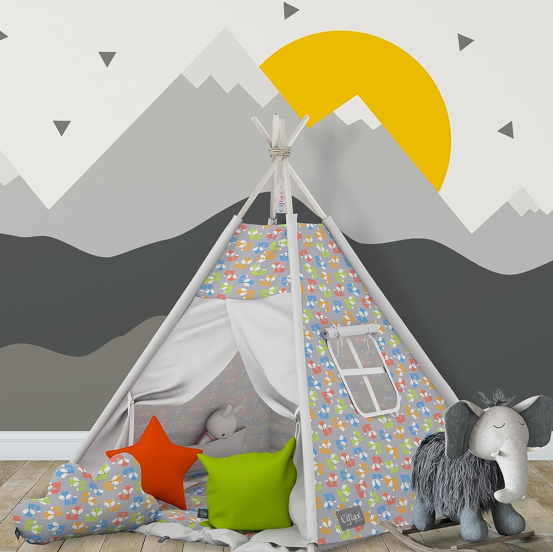 Tenda Tipi indiana Elfique con doppia coperta imbottita e 3 cuscini
