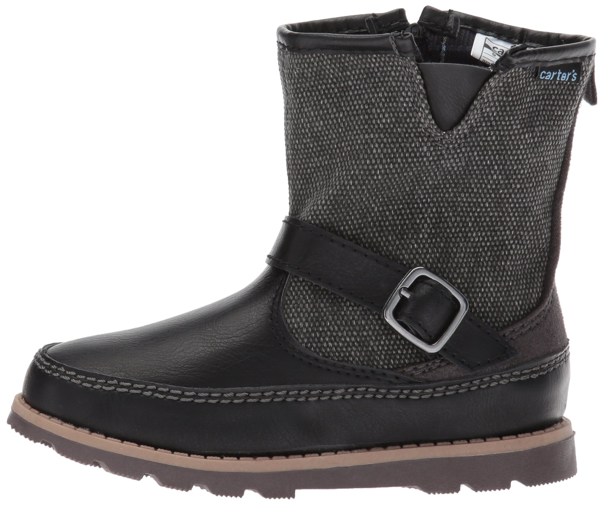 Carter's Boys' Galaway Fashion Boot, Black/Grey, 11 M US Little Kid by Carter's (Image #5)