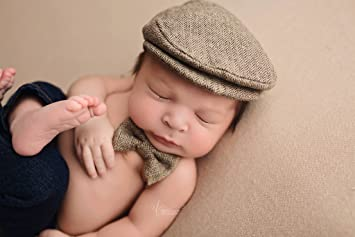6165bc0eb3a Image Unavailable. Image not available for. Color  Newborn Newsboy Hat and  Bow Tie Set