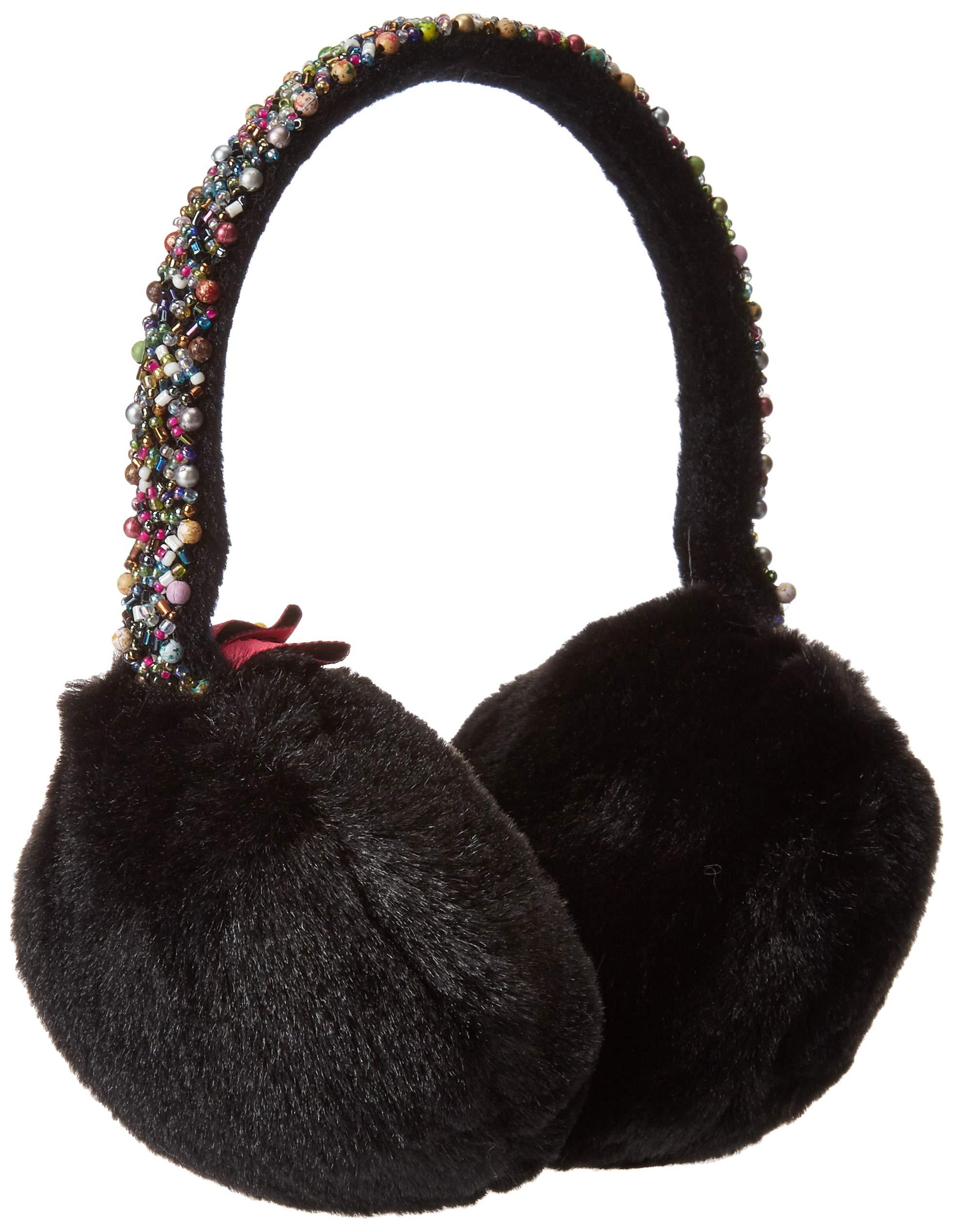 Betsey Johnson Women's AfterParty Earmuff, black, ONE SIZE