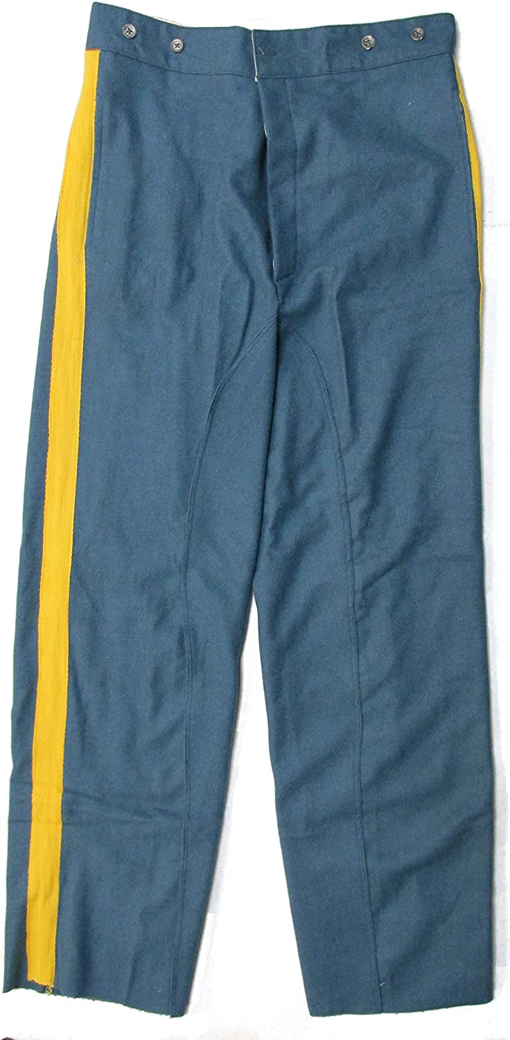 Military Uniform Supply Reenactment U.S Civil War Mounted Trousers Sky Blue Yellow Stripe
