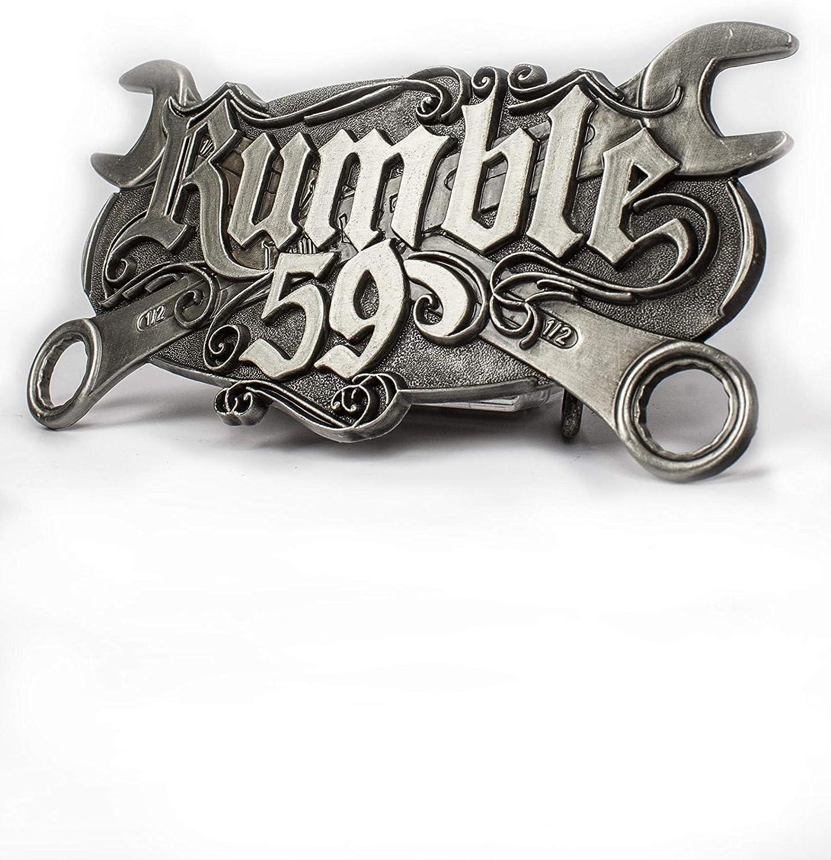 Hombre Plateado plata Talla /única Rumble59 Hebilla de cintur/ón