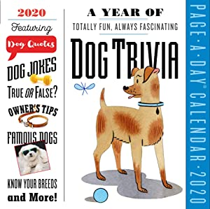 "A Year of Dog Trivia Color Page-A-Day Calendar 2020 [6"" x 6"" Inches]"