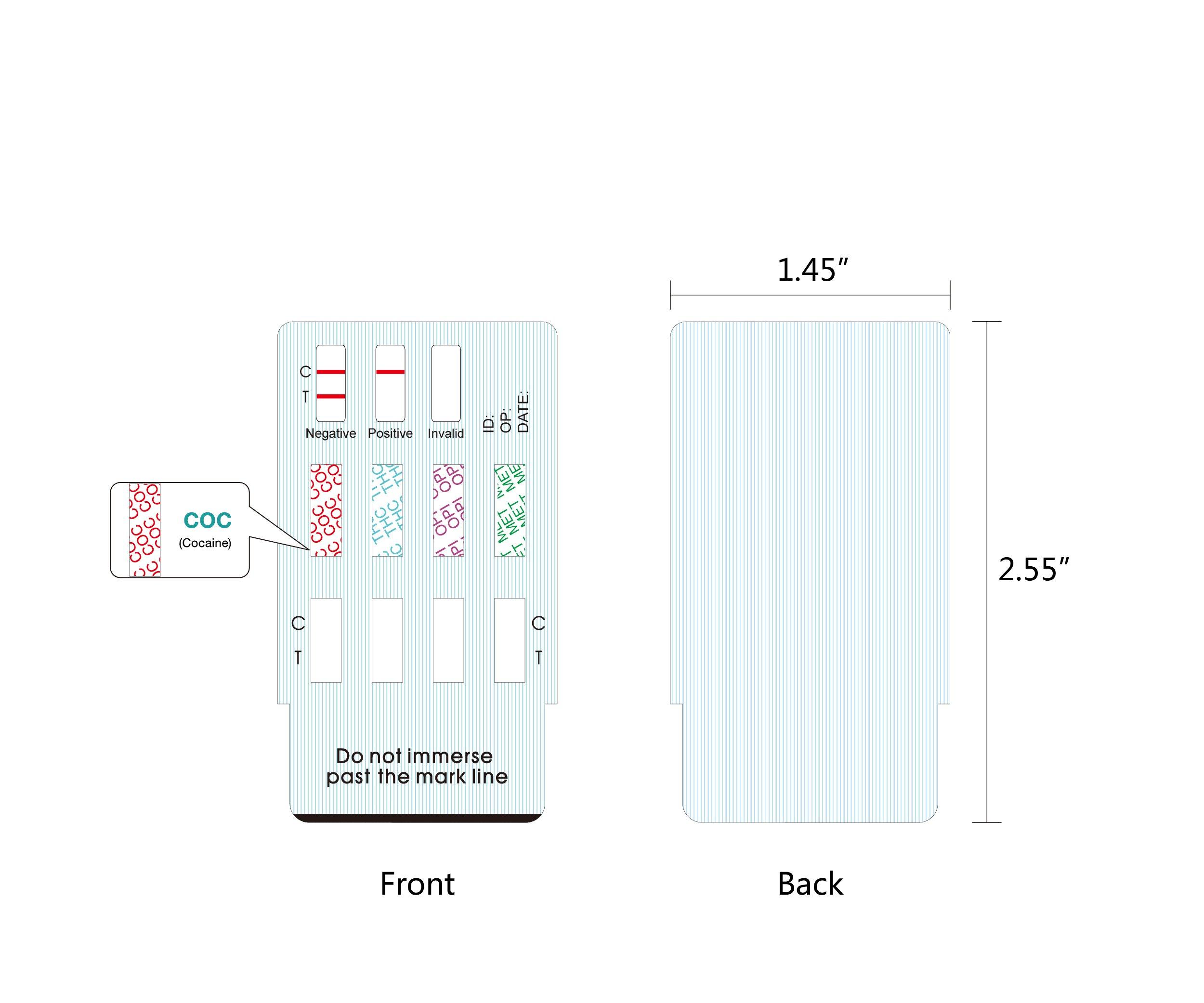 Easy@Home 10 Pack 4 Panel Instant Urine Drug Test - Cocaine (COC), Marijuana (THC), Opiates (OPI), MethAmphetamine (mAMP / MET) EDOAP#144