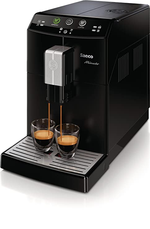 Saeco Minuto - Cafetera espresso automática, color negro