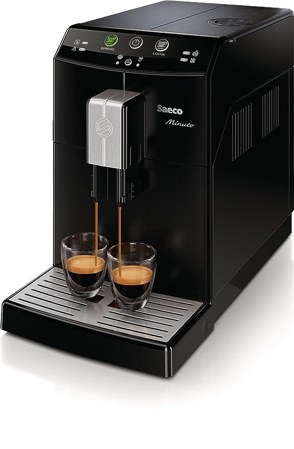 Saeco Minuto - Cafetera espresso automática, color negro: Amazon.es: Hogar