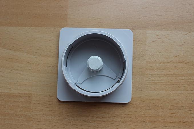 Paso de cable Würth Color Gris, Rectangular Diámetro 60 mm Diámetro de perforación & # x2502; Cable pasaventanas para mesa, escritorio, placa & # x2502; ...