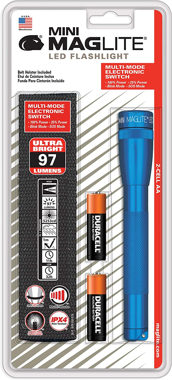 LED Pro Flashlight R MAGLITE SP2P11H 272-Lumen Mini MAGLITE Blue