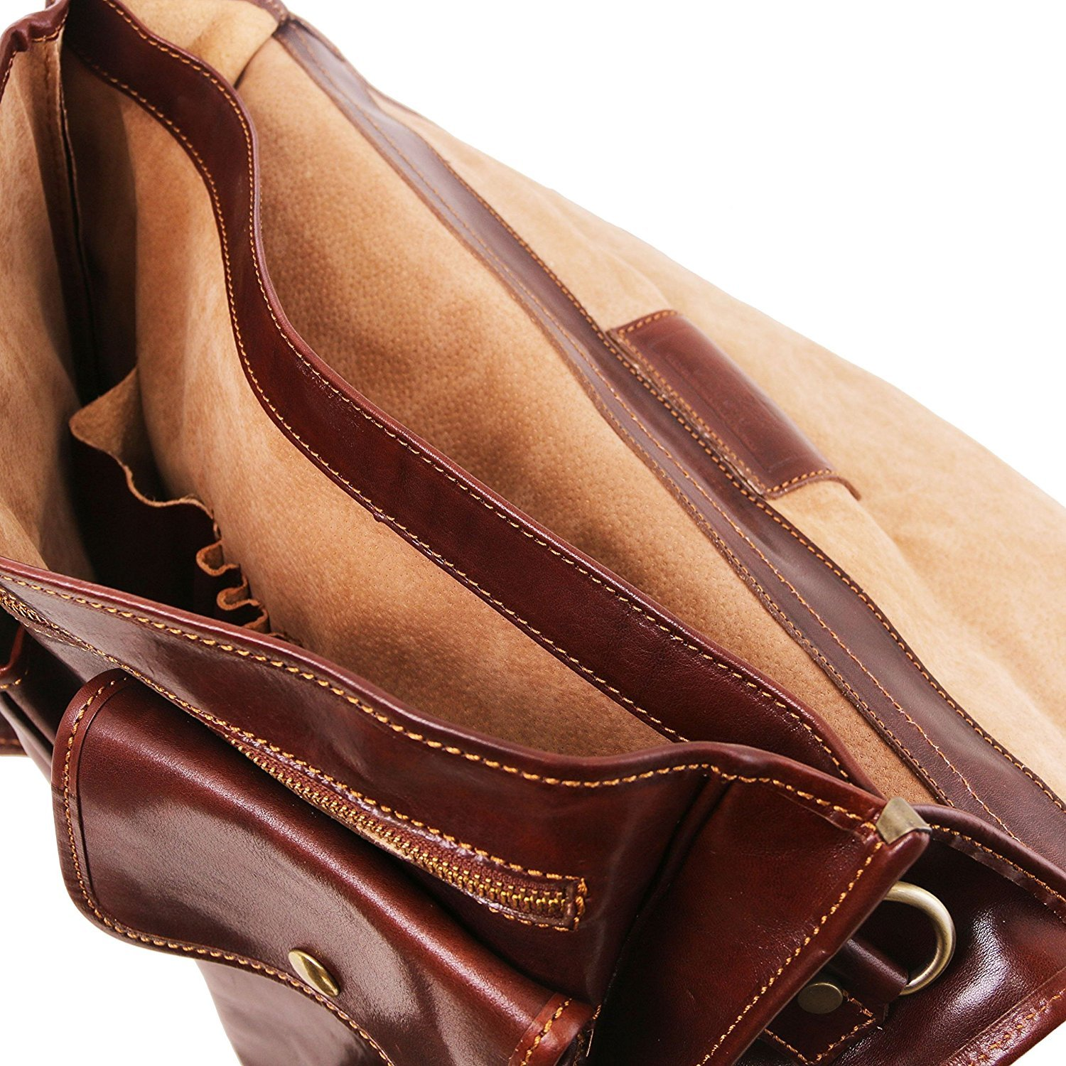 TL141134//1 Tuscany Leather Leather briefcase 2 compartments Brown Modena