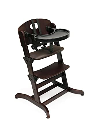 Badger Basket Evolve Convertible Wood High Chair With Tray And Cushion,  Espresso (Discontinued By